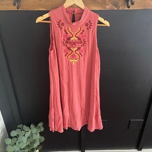 Luxology sleeveless embroidered Dress sz 8